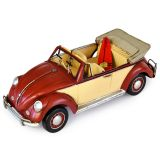 Volkswagen (VW) Beetle with Surfboard - Red 34cm