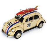 Volkswagen (VW) Beetle 53 with Surfboard - Race Stripes 34cm