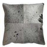 4 Panel Cowhide Cushion Black & White Salt & Pepper (with insert)
