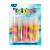 Glitter Glue Paint Twisted Colours Pack of 5