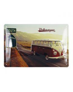 VW T1 Bus Metal Sign - Highway 1