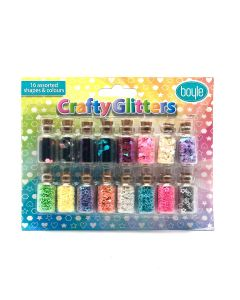 Crafty Glitter Pack of 16 assorted