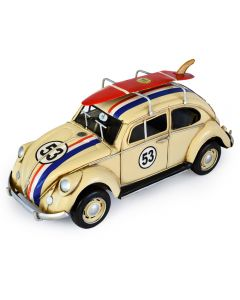 Volkswagen (VW) Beetle 53 with Surfboard - Race Stripes 34cm