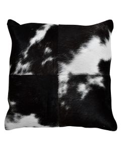 4 Panel Cowhide Cushion Black and White Spot (with insert)