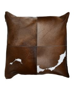4 Panel Cowhide Cushion Brown (with insert)