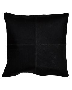 4 Panel Cowhide Cushion Black (with insert)