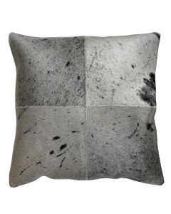 4 Panel Cowhide Cushion Black & White Salt & Pepper (with insert)