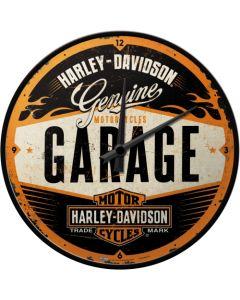 Nostalgic Art Harley-Davidson Garage Wall Clock 30cm