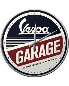 Nostalgic Vespa Garage Wall Clock 30cm