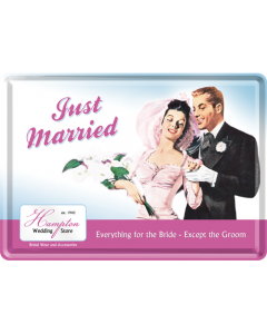 Nostalgic-Art Metal Card Just Married