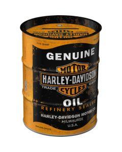 Nostalgic-Art Money Box Oil Barrel Harley-Davidson Genuine Oil