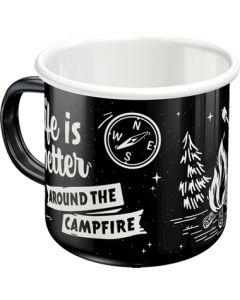 Nostalgic-Art Enamel Mug Around The Campfire