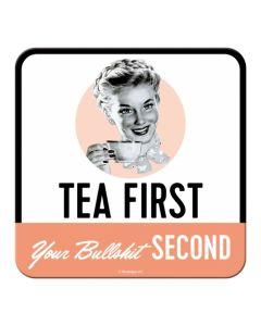 Nostalgic-Art Coaster Tea First