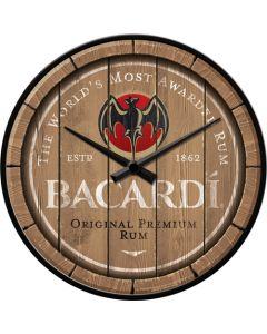 Nostalgic-Art Wall Clock Bacardi Wood Barrel