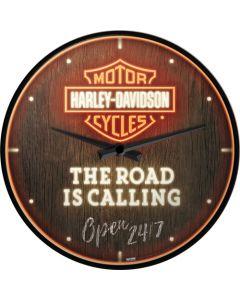 Nostalgic-Art Wall Clock Harley-Davidson - The Road is Calling