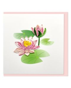 Quilled Card Lotus Flowers