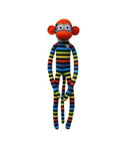 Olly Orange & Blue Stripe Monkey 70cm