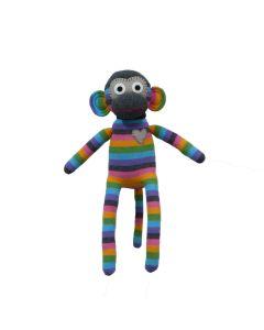 Georgia Purple & Grey Stripe Monkey 40cm
