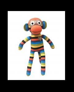 Will Orange & Blue Stripe Monkey 40cm