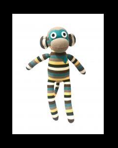 Luigi Green & Grey Stripe Monkey 40cm