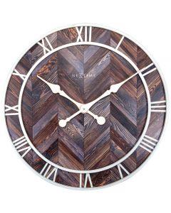 NeXtime Roman Vintage Wall Clock 58cm Dark Brown