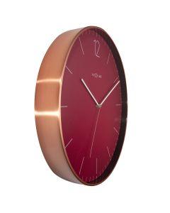 NeXtime Very Essential Wall Clock 40cm Wine & Copper
