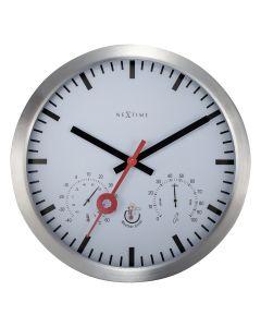 NeXtime Clematis Outdoor Wall Clock 35cm White