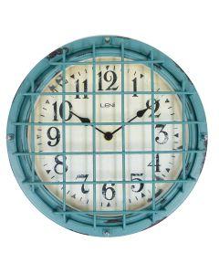 Leni Outdoor Clock - Antique Green