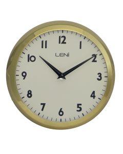 Leni Metal School Wall Clock 23cm - Gold