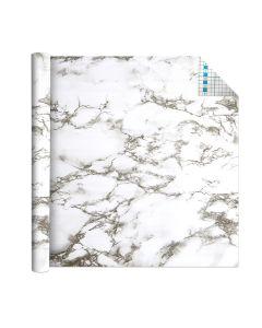 Self Adhesive Vinyl Film White Marble 1.5m x 45cm