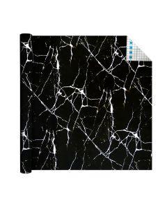 Self Adhesive Vinyl Film Black Marble 1.5m x 45cm