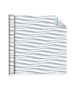 Self Adhesive Vinyl Film White Waves 1.5m x 45cm