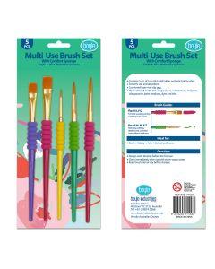 Multi-Use 5pc Brush Set with Comfort Sponge