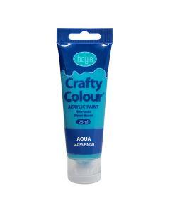 Crafty Colour Acrylic Paint 75ml Aqua