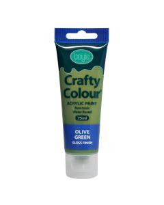 Crafty Colour Acrylic Paint 75ml Olive Green