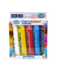 Crafty Colour Acrylics Paint 75ml [5 Pack]