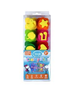 Crafty Kid Finger Paint Pack of 10 assorted