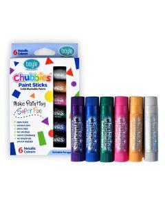 Chubbies Washable Paint Sticks - Metallic