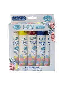 Leni Decorator Acrylics Matt Paint 75ml [5 Pack]